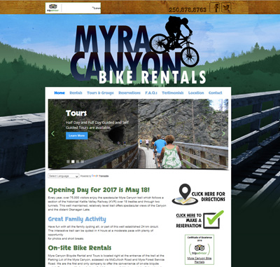 Myra Canyon Bike Rentals